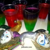 mardi gras jello shots