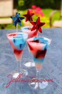 Star Spangled Jello Shots - Jellinator.com