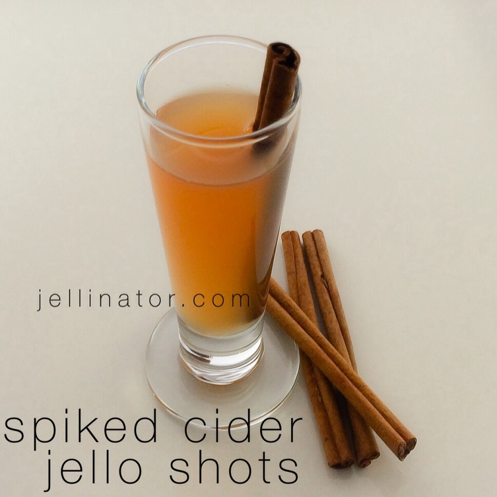 Spiked Cider Jello Shots with Fireball whiskey - Jellinator.com