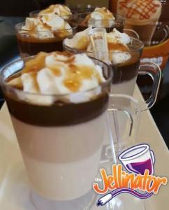 Caramel Macchiato jello Shots - Jellinator.com