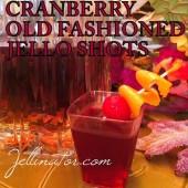 CRANBERRY OLD FASHIONED JELLO SHOTS