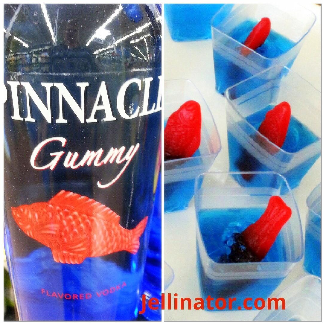 Adorable gummy vodka jello shot recipe with swedish fish for Swedish fish shot