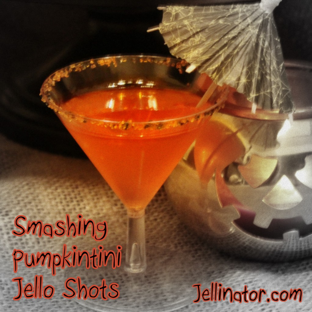 Smashing Pumpkintini Jello Shots - Jellinator.com