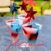 Star Spangled Jello Shots for your Fourth of July Party