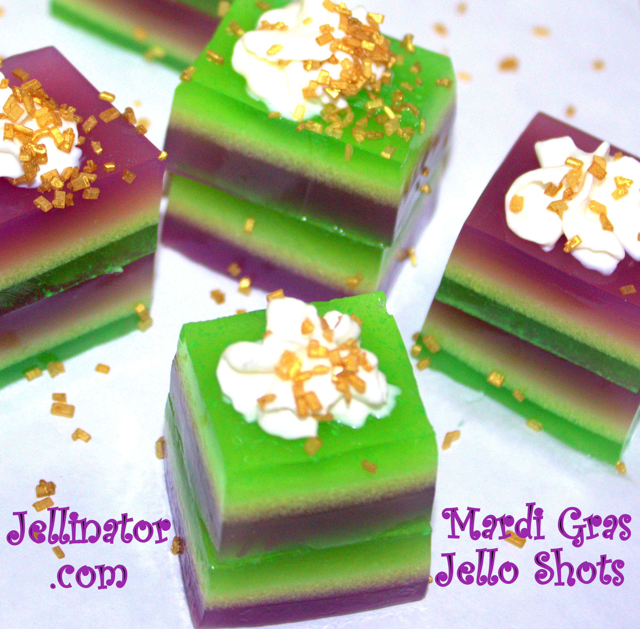 Remarkable Colorful Mardi Gras Jello Shots Recipe Jellinator Funny Birthday Cards Online Barepcheapnameinfo